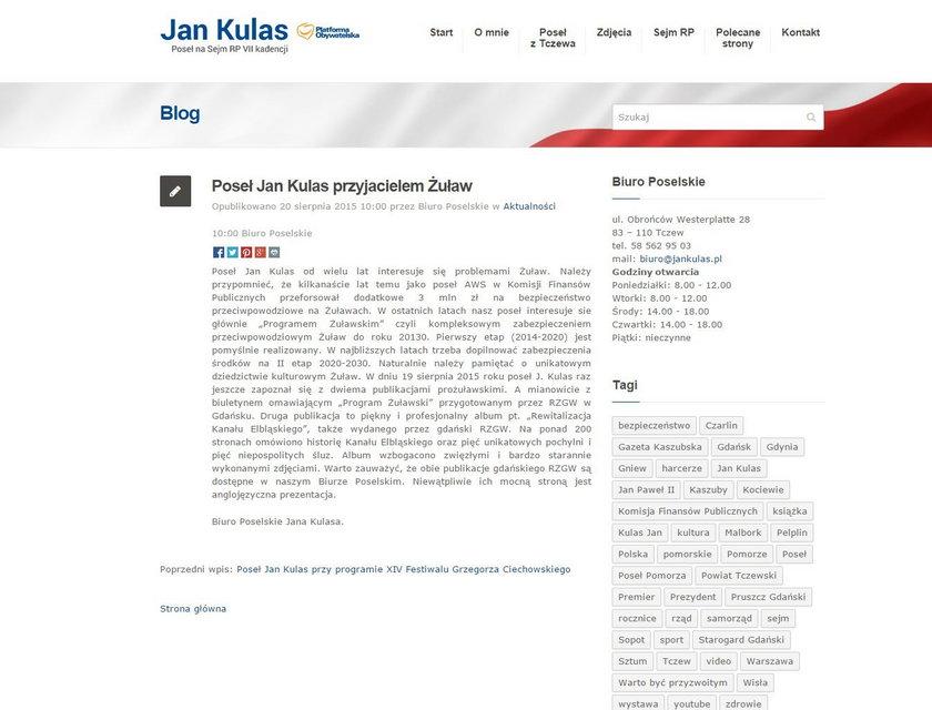 Poseł Jan Kulas pochwalił się przeczytanymi książkami
