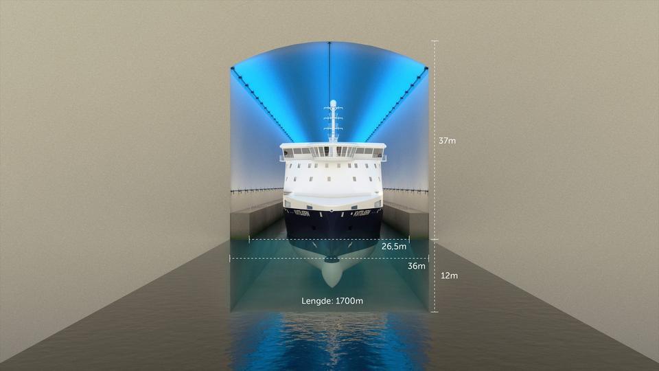 Kanał będzie mieć 45 m wysokości i 36 m szerokości