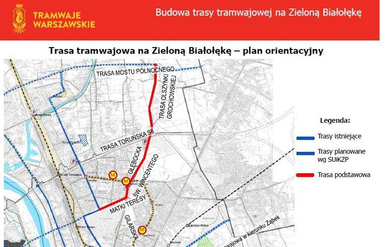 Planowany przebieg trasy