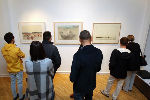 Radomir Damnjanović Damnjan, otvaranje izlozbe u Arte galeriji