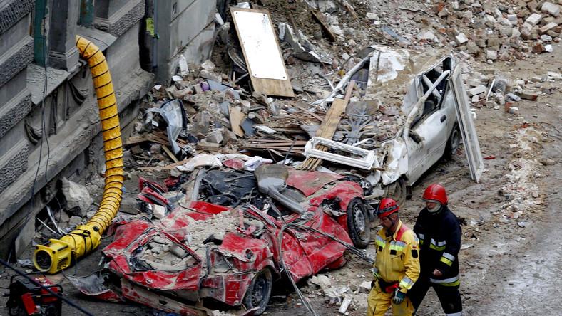 Zniszczenia w Katowicach