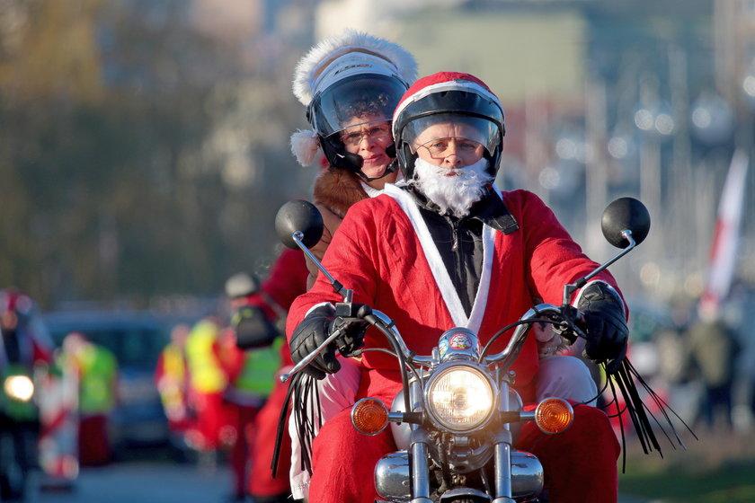 Mikołaje na motocyklach