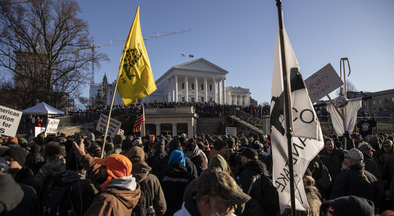 Amid Tight Security, Virginia Gun Rally Draws Thousands of Supporters