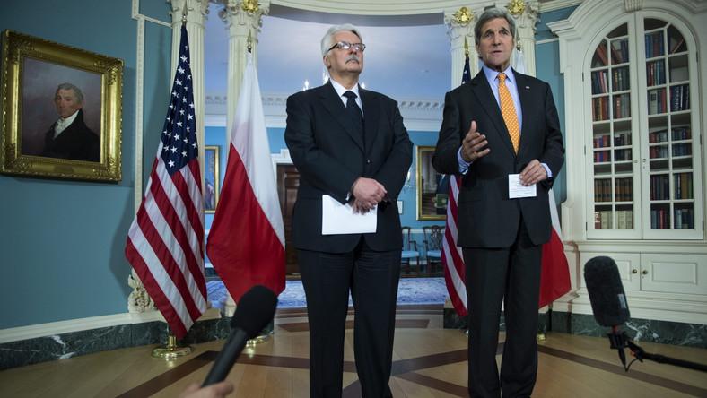 Witold Waszczykowski i John Kerry