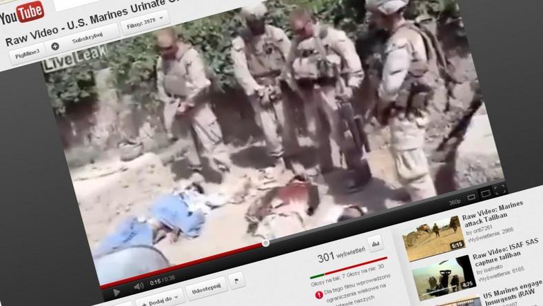 Skandal w amerykańskiej armii. Żołnierze oddawali mocz na zabitych talibów