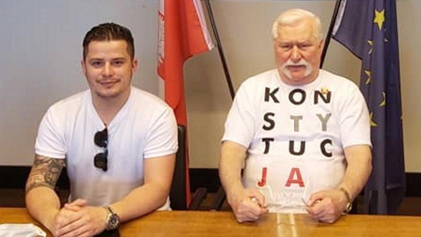 Rafał Collins i Lech Wałęsa