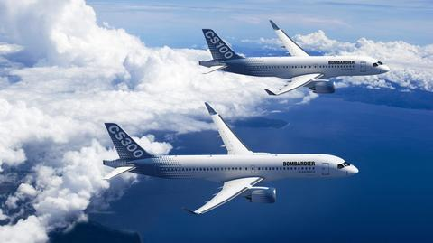 CSeries to rodzina wąskokadłubowych samolotów Bombardiera produkowanych od 2012 roku