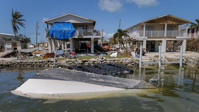 USA HURRICANE IRMA AFTERMATH (Hurricane Irma in the Florida Keys, Marathon)