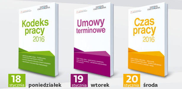 "Kodeks pracy 2016 - książka- dodatek do ""DGP"" 18 stycznia"