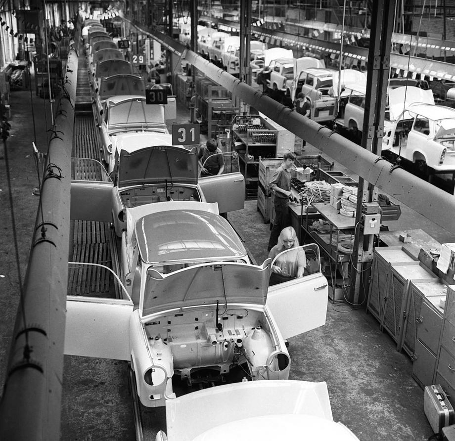 GDR - Trabant production in Zwickau