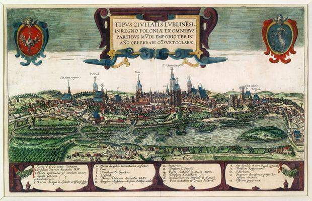 Lublin w roku 1618 - Widok Lublina Hogenberga i Brauna