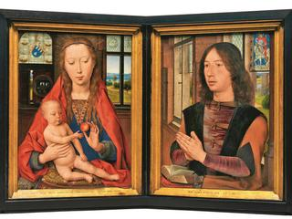 Diptych of Maarten van Nieuwenhove, 1487 (oil on panel)
