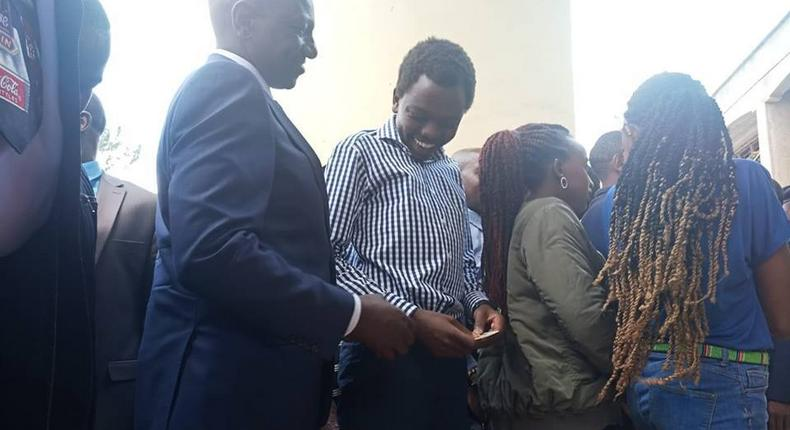 DP William Ruto, accompanied by son and daughters quietly registers for Huduma Namba in Lang'ata
