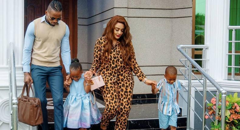 Diamond Platnumz, Zari Hassan and their Kids Nillan and Tiffah