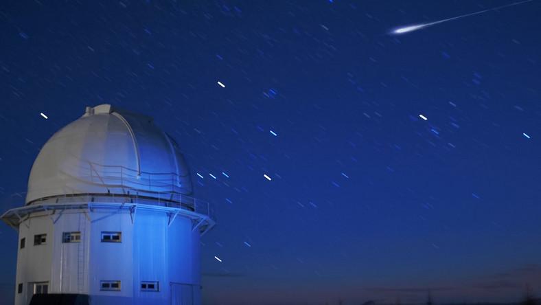 Orionidy na niebie