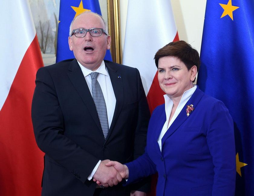 Beata Szydło i Frans Timmermans