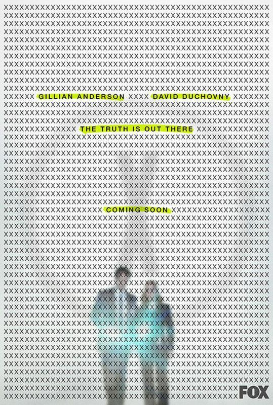 """Plakat zapowiadający nową serię """"Z archiwum X"""""""