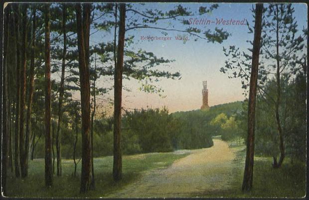 Wieża Quistropa na widokówce z roku 1925