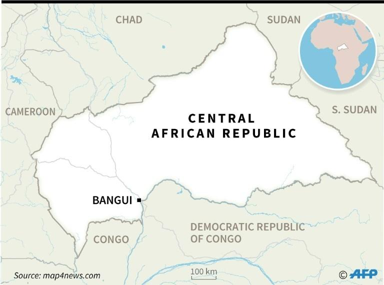 Map of the Central African Republic (CAR)
