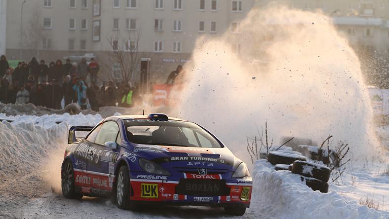 Tomasz Kuchar w barwach Peugeot na Rajdzie Barbórka