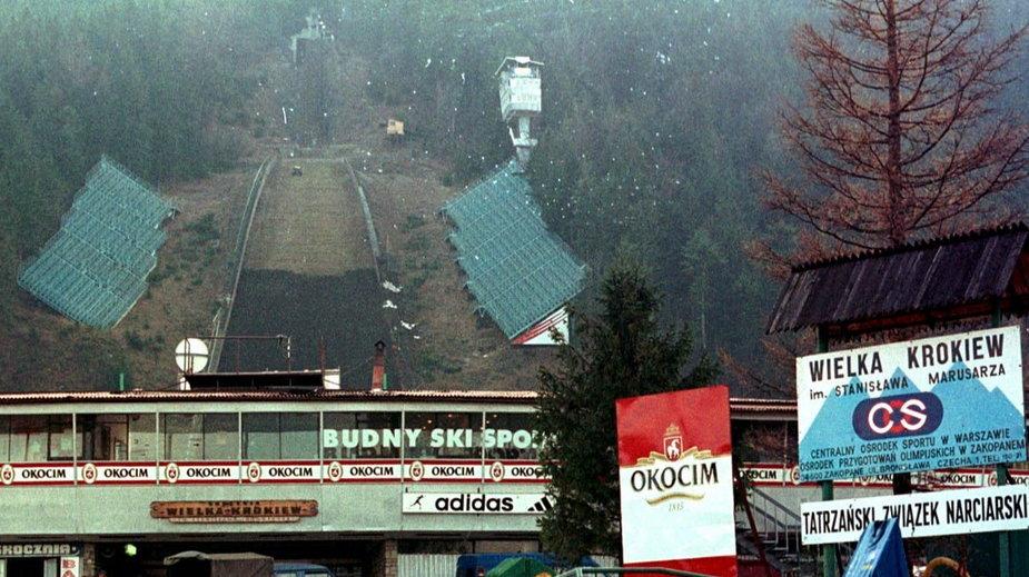 Przebudowa Wielkiej Krokwi w 2000 r.