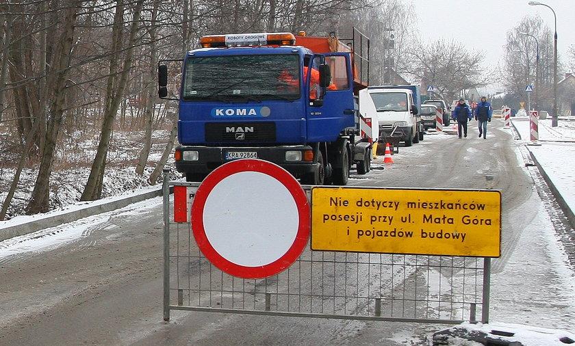 Remont ulicy Mała Góra w Krakowie