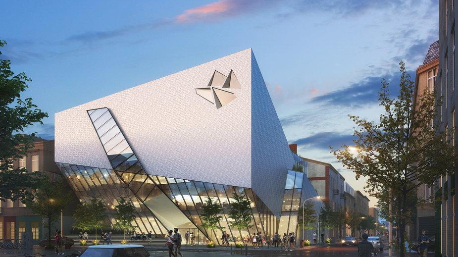 Wizualizacja Muzeum Architektury wg projektu Daniela Libeskinda. Fot. Biuro Projektowe Libeskinda