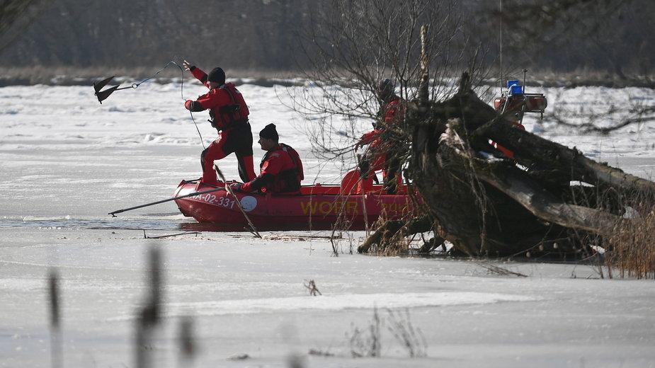 W poszukiwaniach ciała Jana Lityńskiego uczestniczą m.in. WOPR-owcy
