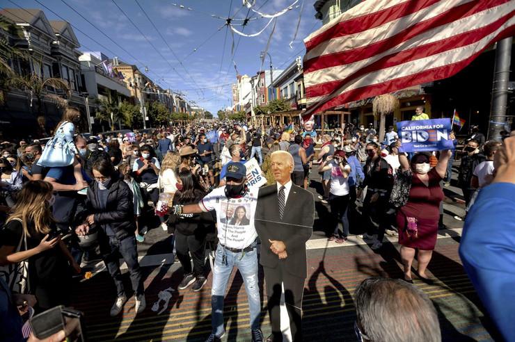 Izbori Amerika 2020 slavlje na ulicama San Francisko