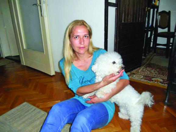 Nevena Petrović sa ljubimicom Donkom