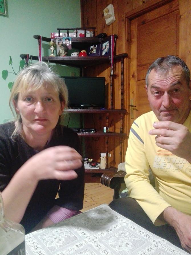 Svetlana Lojaničić s mužem