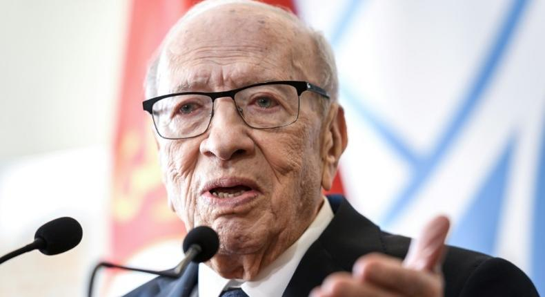 Tunisian President Beji Caid Essebsi, 92, has not yet said whether he will run for election again