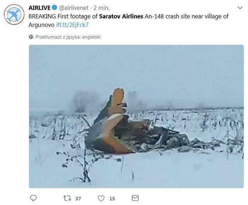 Katastrofa samolotu w Rosji. Na pokładzie 71 osób