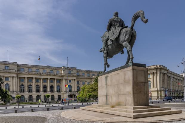 Pałac Królewski i pomnik Karola I, Bukareszt