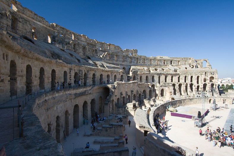 Koloseum w El Jem w Tunezji