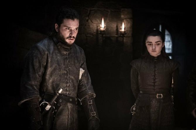 Arja Stark i Džon Snou