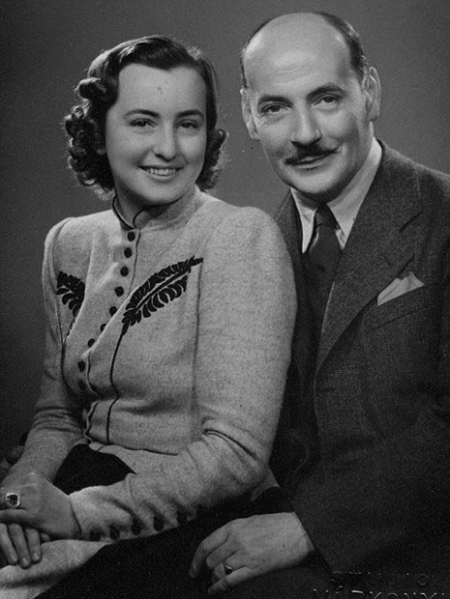 Albert Gering sa suprugom Milenom