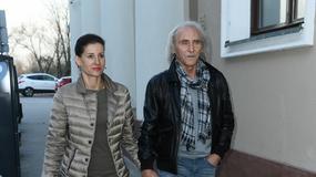 Jerzy Kryszak z żoną na premierze w teatrze
