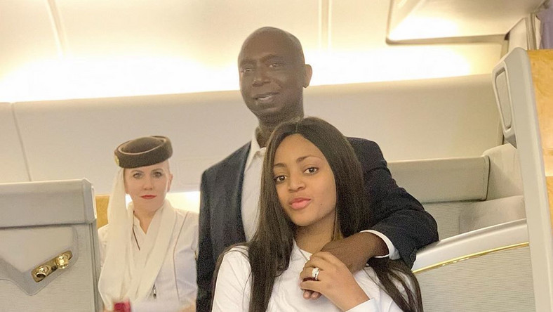 Regina Daniels and her billionaire husband, Ned Nwoko are officially our 'PDA couple' of the year. [Instagram/ReginaDaniels]