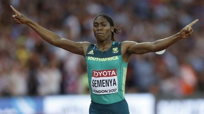 Athlete claims third world 800m title
