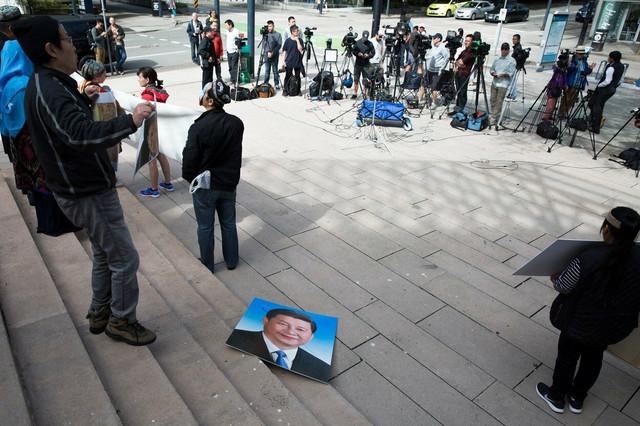 Protest Ujgura u Pekingu u maju ove godine