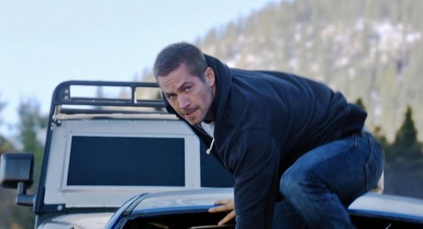 Paul Walker in a scene from Furious 7