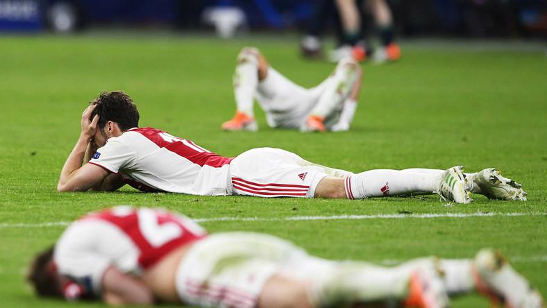 Rozpacz piłkarzy Ajaksu Amsterdam