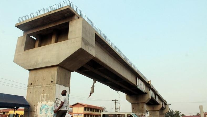 The uncompleted Madina-Adentan footbridge