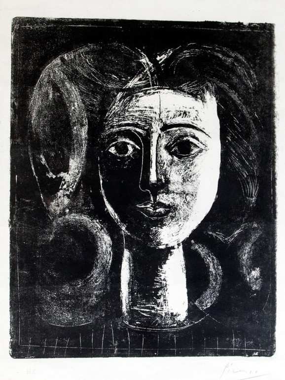 """Pablo Pikaso - """"Tete de Jeune Fille"""", litografija iz 1947. godine biće u Beogradu"""