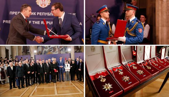 Aleksandar Vučić dodelio je ordenja povodom Dana državnosti