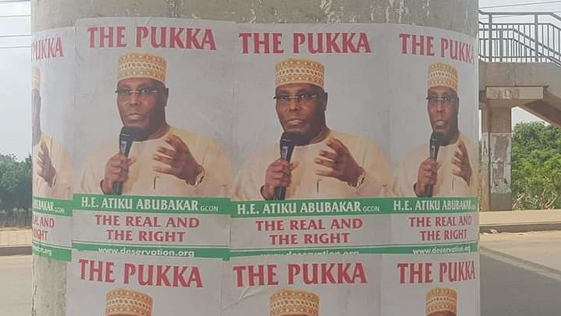 Atiku posters in FCT (NAN Photos)