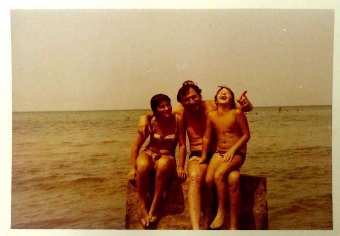 Suzana sa sestrom i legendarnim Gidrom, foto: ustupljena fotografija