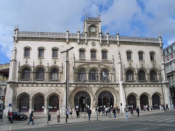 Stacja kolejowa Rossio w Lizbonie