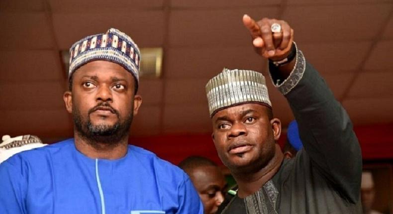 Kogi's Governor Yahaya Bello (right) with his deputy governor, Edward Onoja [Western Point Nigeria]